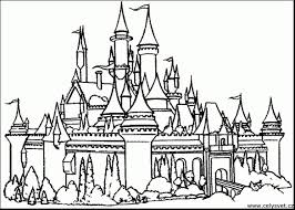 disney castle coloring pages sand castle coloring page with wallpaper
