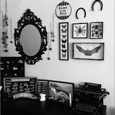 A chaotic corner of my home! But I finally found a place for my @. Dark  Home DecorCool Room DecorGothic ...