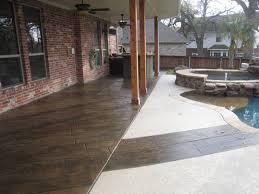 decorative concrete resurfacing with tuscan wood pattern