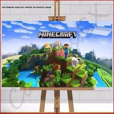 Minecraft Pictures To Print Minecraft Game Canvas Print Picture Steve Zombie Dog Duck Pig Stampy