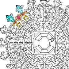 Small Picture Mandala Coloring Page Diamond Clarity printable coloring for