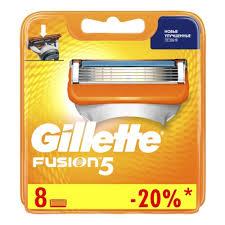 <b>Сменные кассеты</b> для бритья <b>GILLETTE Fusion5</b>, 8 шт. — купить ...