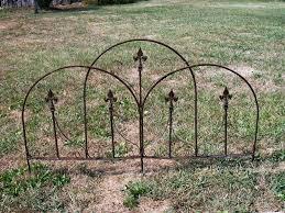 decorative garden fence metal 4 feet high