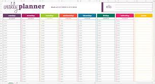 Schedule Template Weekly Excel Printable Schedule Template