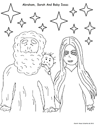 Abraham Coloring Pages Inside And Isaac Page