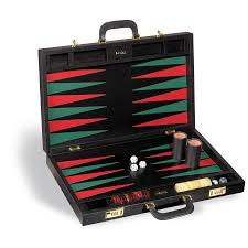 and black backgammon set hover to zoom