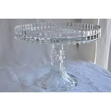 u s glass manhattan pattern footed cake stand