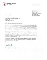 Letters Of Appreciation Shriners Hospital Letter Of Appreciation Clearwater