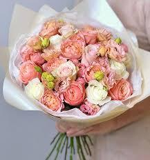 Розовые цветы купить в СПБ   Красивые цветы розового цвета с ...