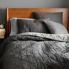 What is a coverlet, modern quilted bedspread grey grey quilted ... & Nomad Coverlet Shams Slate Standard Sham Adamdwight.com