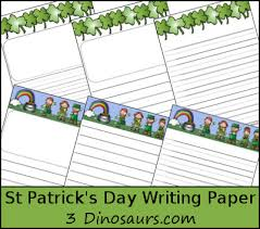st patrick s day writing paper dinosaurs  st patrick s day writing paper printable com
