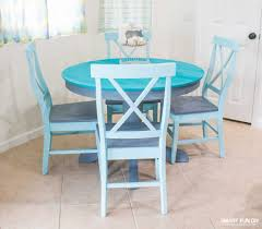but the table looked so bad what did i have to lose i used the chalk paint on a few craft projects over the last few years and started feeling alot more