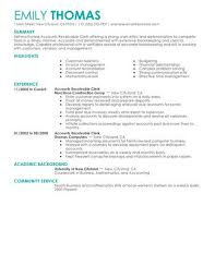 Best Accounts Receivable Clerk Resume Example LiveCareer Best Accounts Receivable Resume