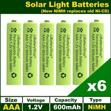 6 x aaa 1 2v 600mah nimh rechargeable