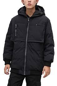 FLY HAWK Men's <b>Down Jacket</b> Hooded Puffer 90% <b>White Duck</b> ...