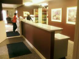 awesome front office decoration office reception desk design ideas home designs dental showcase