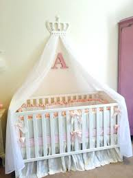 prince crib bedding cot princess white pink bed canopy crown le petit