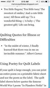 Image detail for -memory_quilt_poem.gif | Quilt Labels | Pinterest ... & Sayings 6 Adamdwight.com
