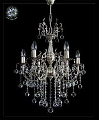 crystal chandelier 6 lights in gold or silver real crystals