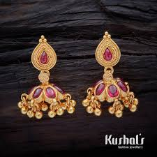 South Indian Traditional Gold Earrings Designs Cute Simple South Indian Traditional Silver Temple Jewellery