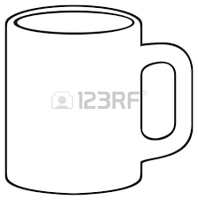 mug clipart black and white. coffee mug white cup vector clipart black and