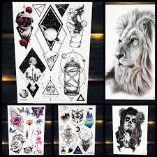 3d мужчины популярные временные татуировки геометрическая вселенная женщины рука