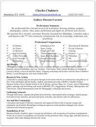 Knock Em Dead Gallery Director Resume Example. Gallery Director Resume  Sample ...