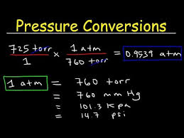 Gas Pressure Unit Conversions Torr To Atm Psi To Atm Atm To Mm Hg Kpa To Mm Hg Psi To Torr