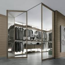 modern glass closet doors. Awesome Glass Closet Door Set On Wooden Wall Walk In Modern Doors