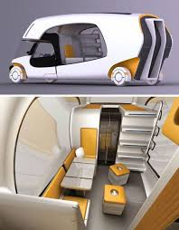 hybrid camper motorhome and campers  modular motorhome hybrid camper car caravan combo by christian susana great attention to detail from how each portable portion car and camper