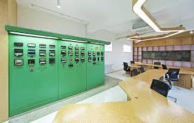 industrial office flooring. Industrial Office. 751 Creative Office Design,© Hypersity O Flooring