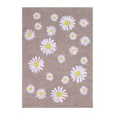 collection happy daisies washable rug 140x200cm