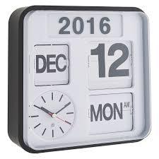 flap white small ogue year wall clock