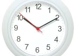 silver wall clock next large kitchen clocks modern digital pertaining to