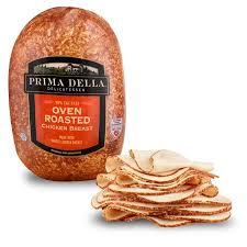 Walmart Deli Nutrition Chart Prima Della Oven Roasted Chicken Breast Deli Sliced