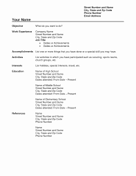 Model Resume Sample Download Resume Format In Word Document New Confortable Model At 25