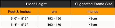 Carrera Bike Size Chart Carrera Road Bike Frame Size Guide Jidiframe Co