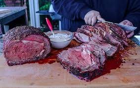 hickory smoked prime rib with an herb crust