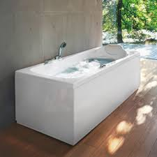 ... Bathtubs Idea, Whirlpool Bath Jacuzzi Corner Bath Freestanding  Rectangular Whirpool Jacuzzi With Comfy White Headrest ...