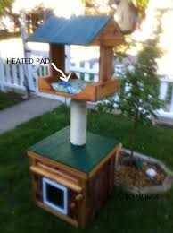 Heated Outdoor Cat House Heated Cedar Heated Loft Scratching
