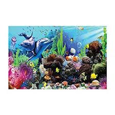 Amazon Com Aquarium Background Underwater World Coral Reef Dolphin