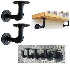 set 2 shelves brackets industrial
