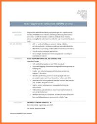 Heavy Equipment Operator Resume Agriculture Environment Standard