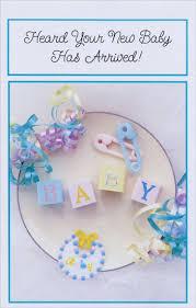 New Baby Congratulation Cards Baby Blocks Pins And Ribbon New Baby Congratulations Card By