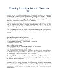 hr recruiter resume ideas tips winning x cover letter gallery of junior recruiter resume