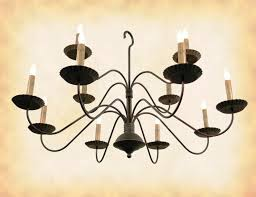 image of black wrought iron country chandeliers