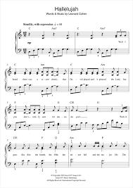 hallelujah piano sheet music hallelujah piano sheet music by jeff buckley easy piano