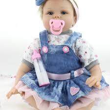 Realistic 22 Inch Reborn Baby Doll Cloth Silicone Baby Girl Handmade ...