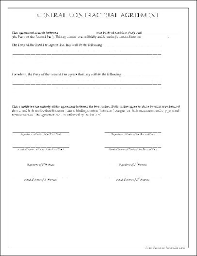 Payment Agreement Form Sample Best Contractor Agreement Form Free Free General Contractual Agreement