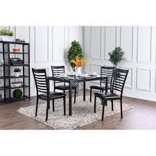 Glass top dining sets Pine Wood Dining Table Furniture Of America Torrance Piece Glass Top Dining Set In Black Cymax Furniture Of America Torrance Piece Glass Top Dining Set In Black